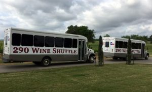 Some of the 290 Wine Shuttle vehicles.